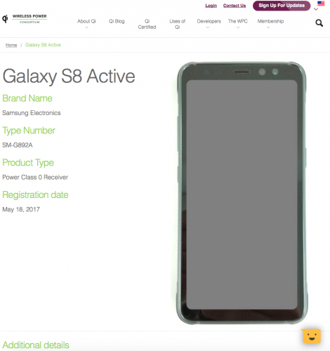 Прочный Samsung Galaxy S8 Active показался на фото